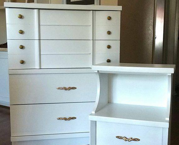 Best White Mid Century Modern Dresser Highboy And Nightstand 400 x 300