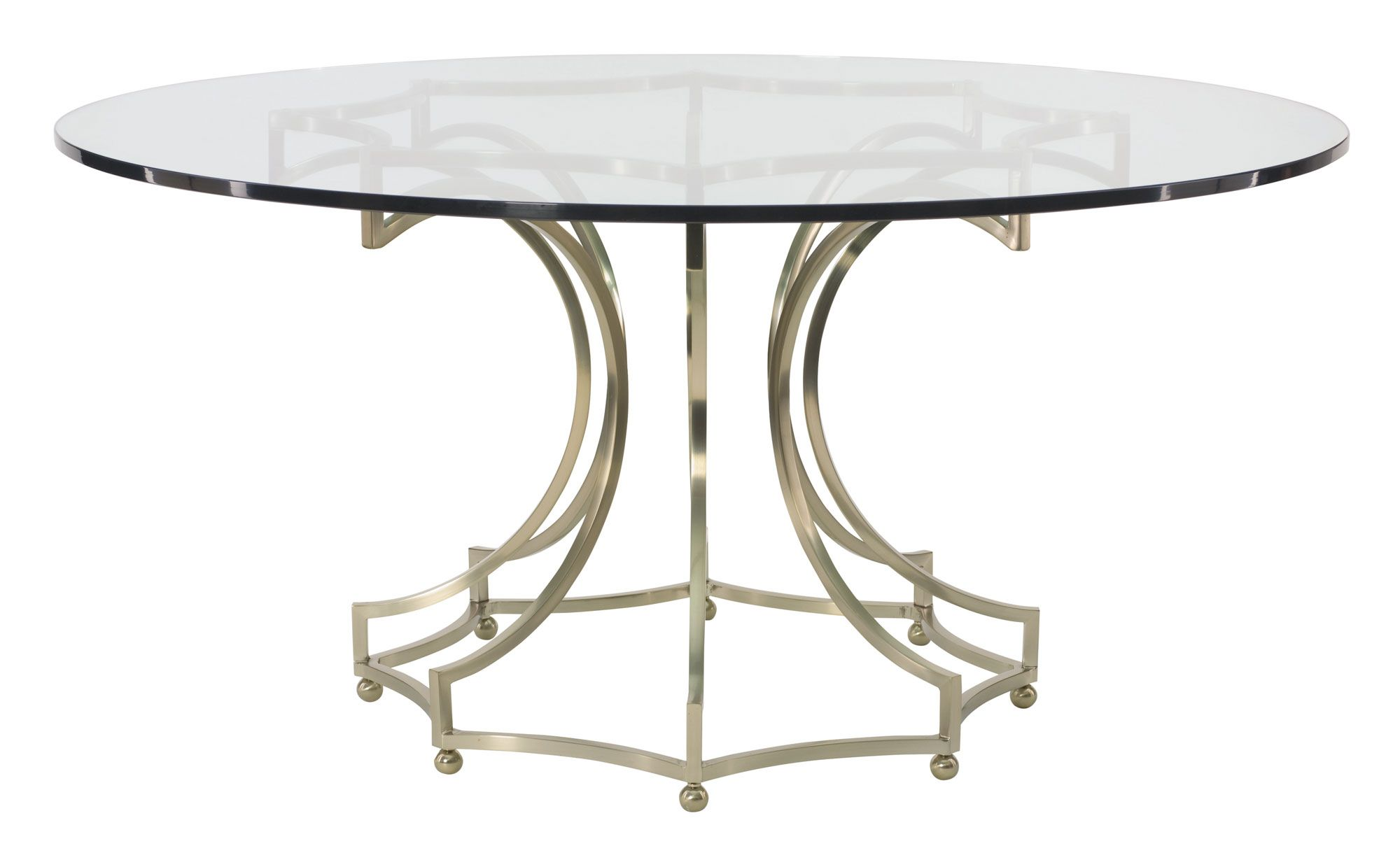 360 773 998 e60 miramont round dining table glass top with metal base bernhardt dia 60 h 30. Black Bedroom Furniture Sets. Home Design Ideas