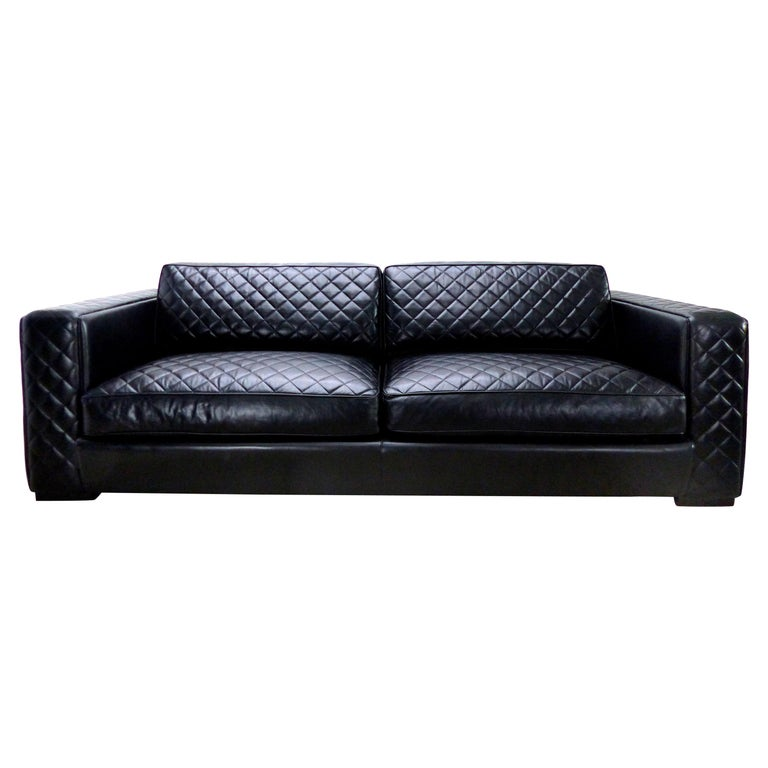 Midcentury Style Embroidered Leather Sofa By Zanaboni For Sale At 1stdibs Vintage Sofa Leather Sofa Sofa