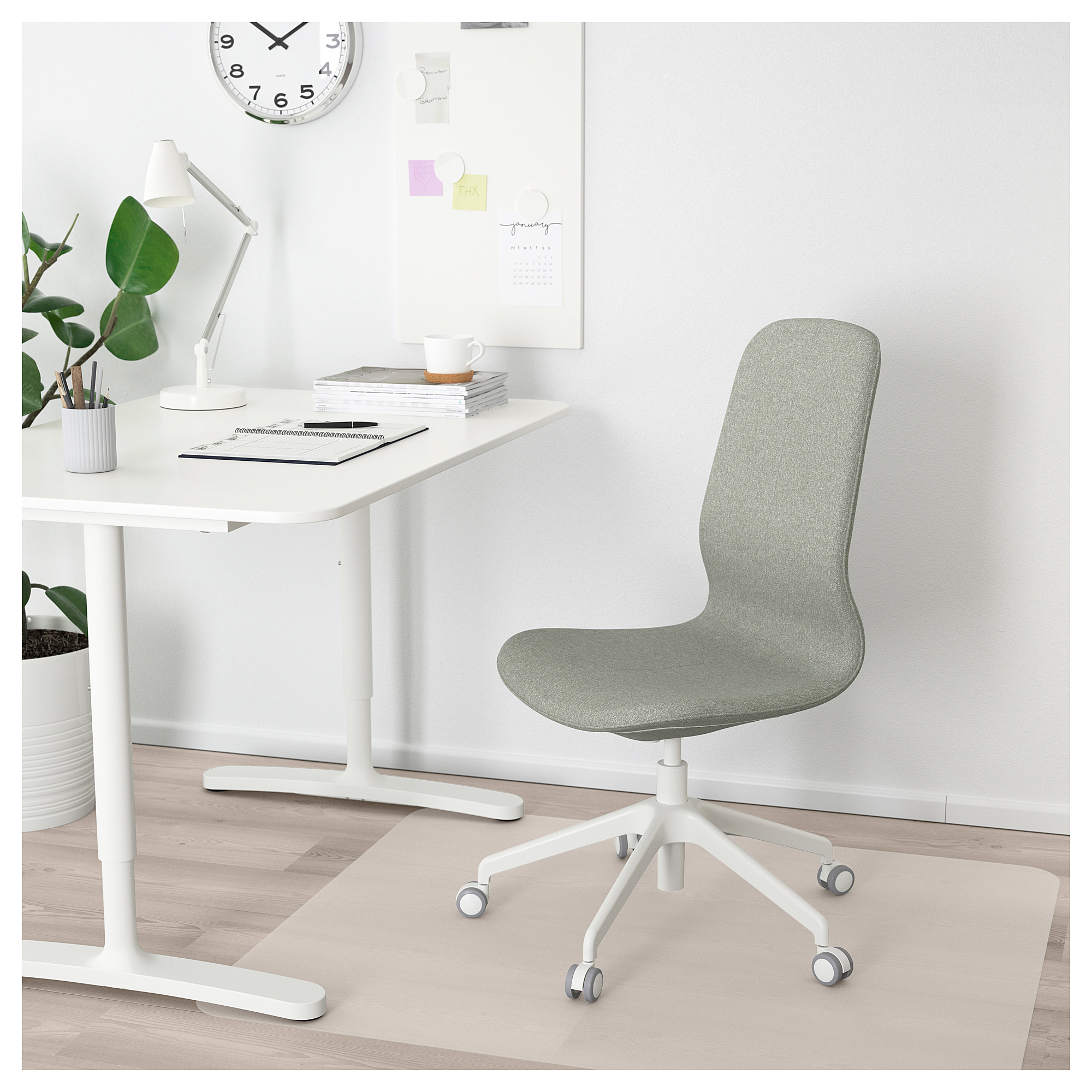 Cool Ikea Langfjall Office Chair Gunnared Light Green White In Gmtry Best Dining Table And Chair Ideas Images Gmtryco