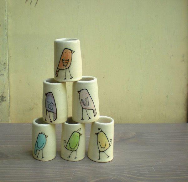Little bird little pottery ceramics handmade for Ceramic mural making
