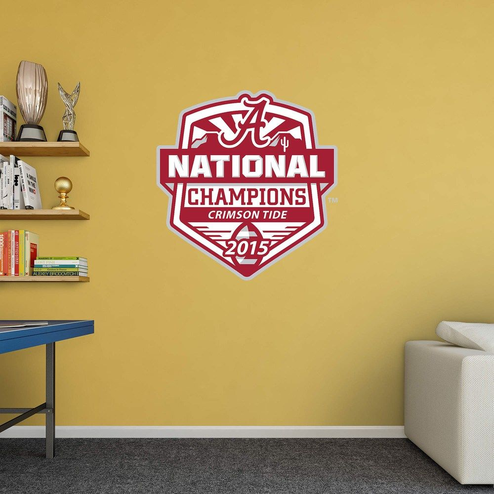 Alabama Crimson Tide 2015 National Champs Wall Decal By Fathead Alabama Crimson Tide Crimson Tide Wall Decals