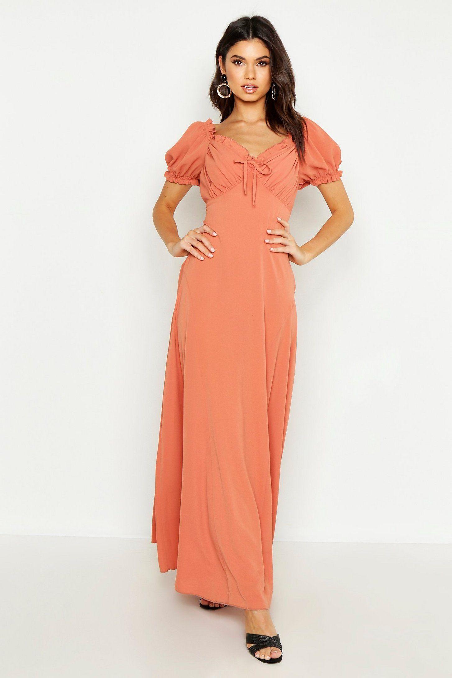 Sweetheart Puff Sleeve Maxi Dress Boohoo Maxi Dress With Sleeves Maxi Dress Dresses [ 2182 x 1454 Pixel ]