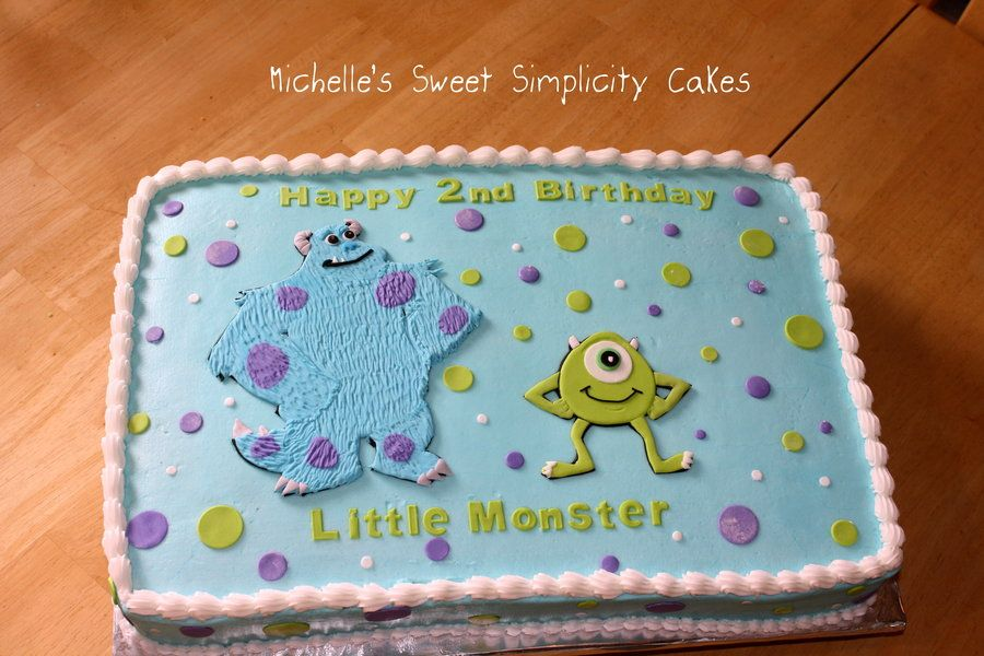 Monsters Inc Cake for a Little Monster by Michelle CakesDecor