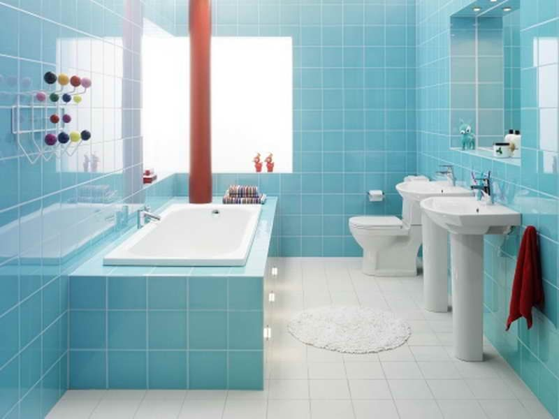 Tiling Bathroom Designs: Tiling Bathroom Designs With Blue Colour ...