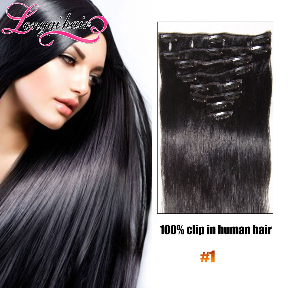 Malaysian Virgin Hair Remy Clip In Hair Extensions Full Head Best