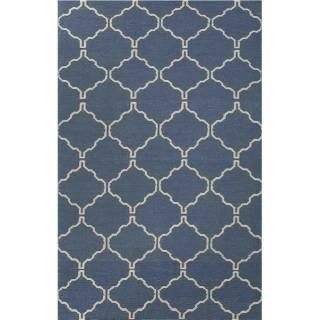 Check out the Jaipur RUG1 Maroc Flat-Weave Moroccan Pattern Wool Blue/Ivory Antique White Area Rug