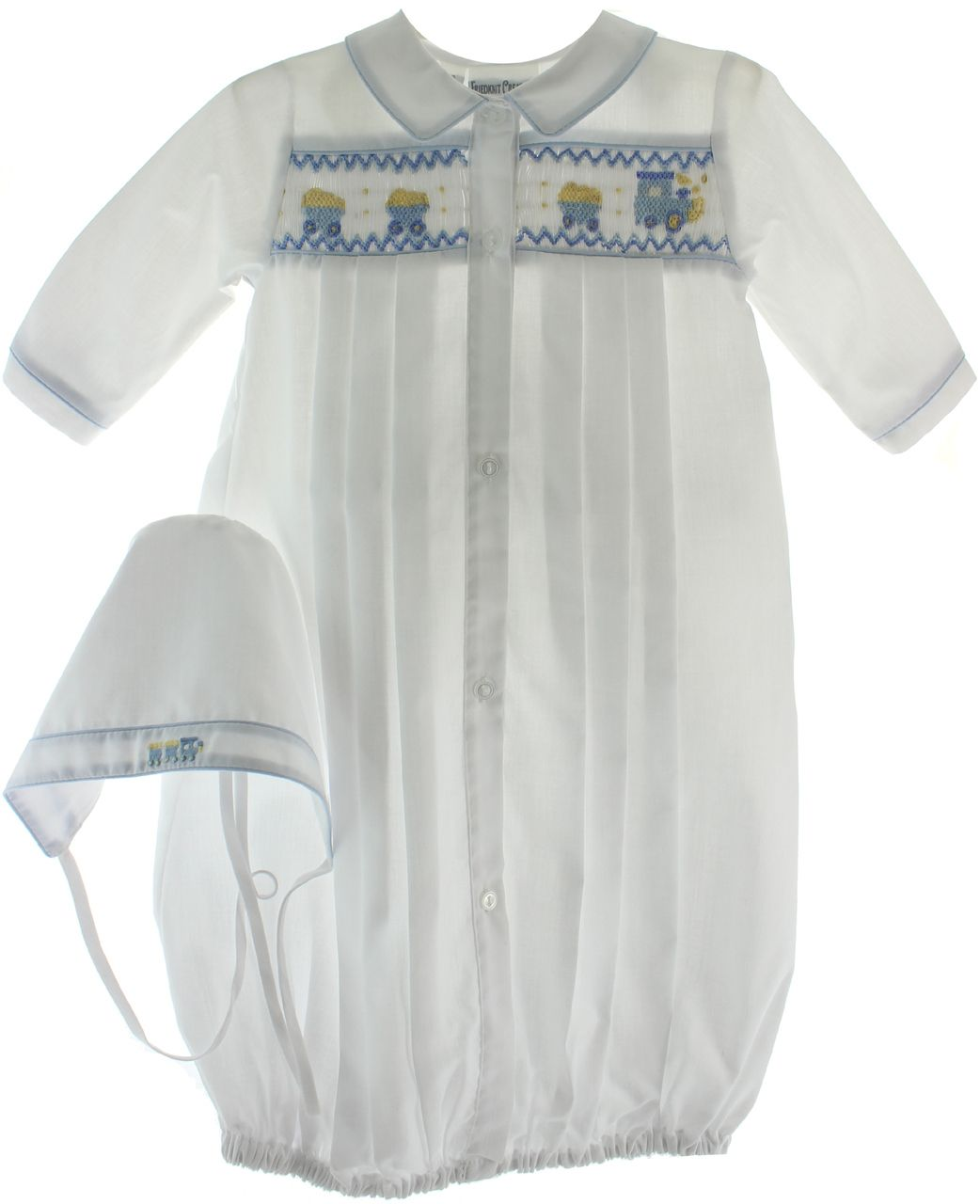 Newborn Boys White Layette Gown Train Smocking   Newborn Boys Take ...