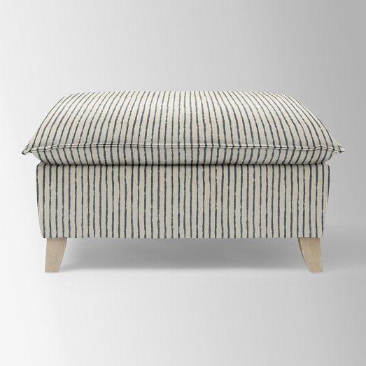 Bliss Down Filled Ottoman Ottoman Down Pillows Paint Stripes