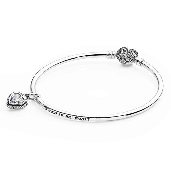Pandora Full Of Heart Bangle Bracelet Gift Set