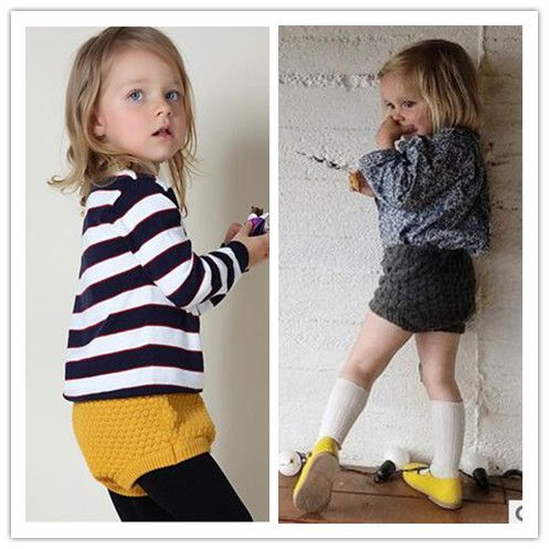 Kids Baby Toddler Girl SKnit Pumpkin Pants Bloomers Shorts
