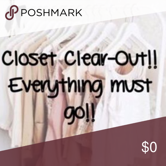 Closet cleanout sale! Everything marked down tonight (3/8
