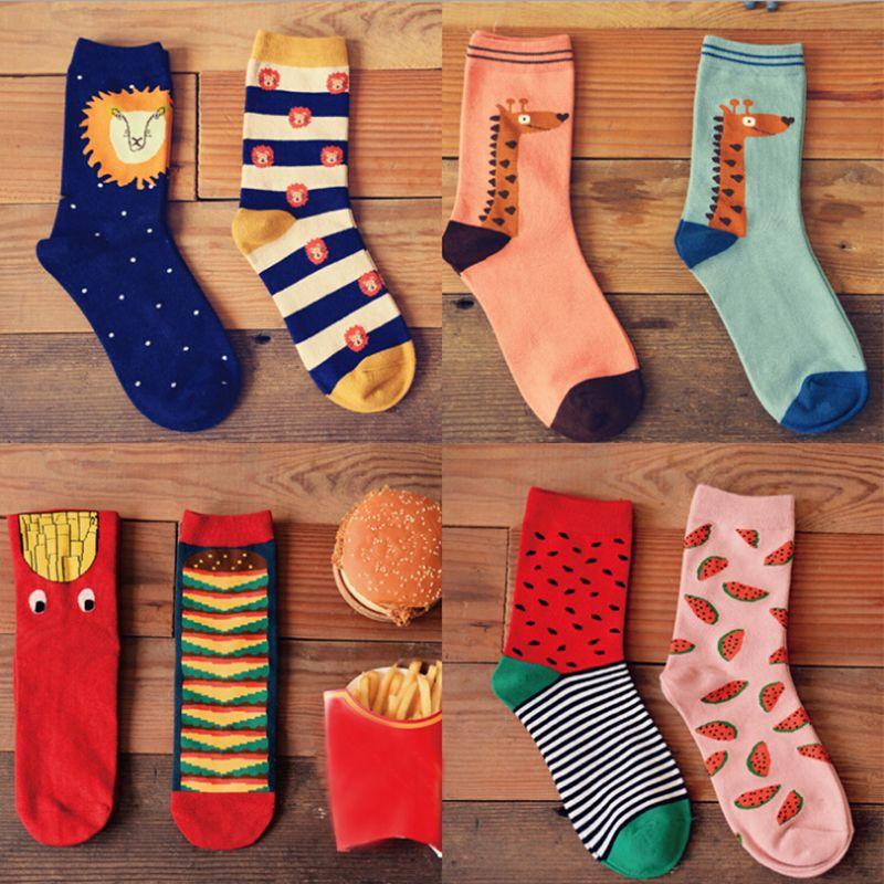 Women Men Funny Sock Casual Sports Cotton Long Socks StockingsDE