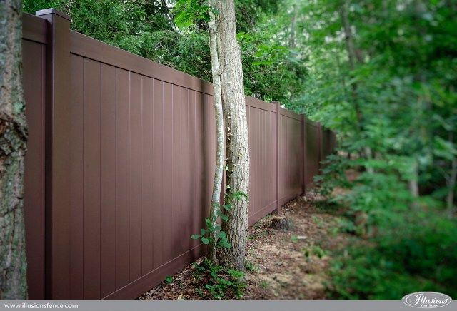 brown vinyl fence panels. Brown Vinyl Pvc Fence Privacy Panels Illusions
