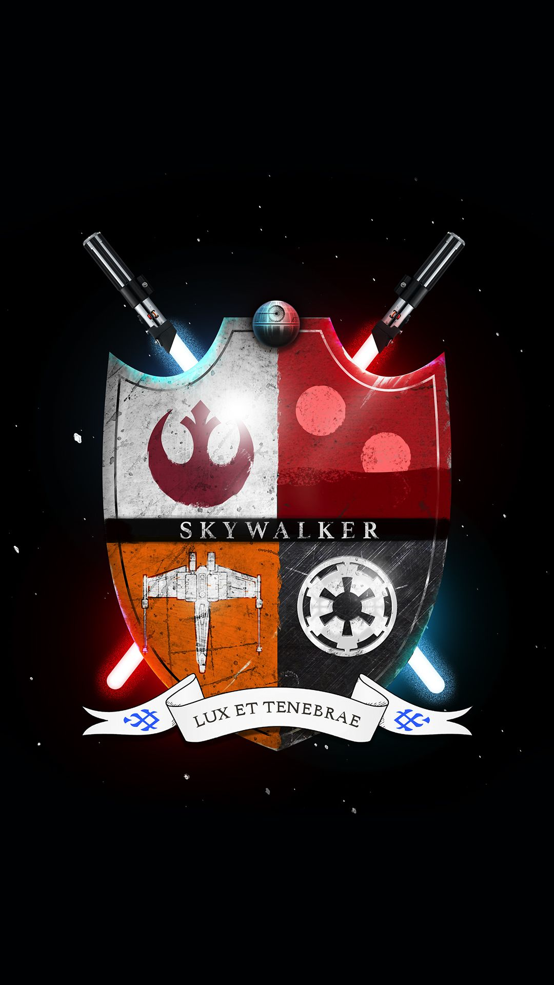 Star Wars Family Crest Skywalker Light And Darkness