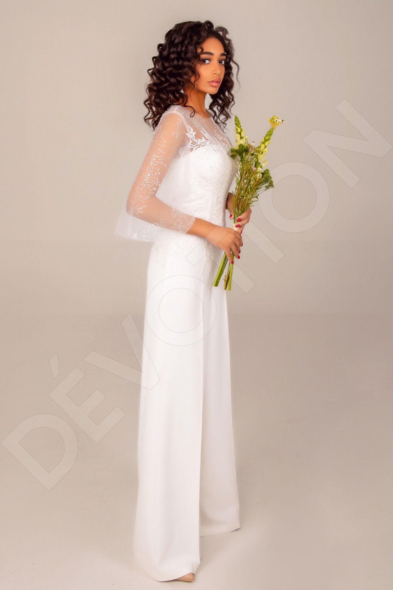 Nailah Modern Satin+Crepe fabric Wedding dress Ivory