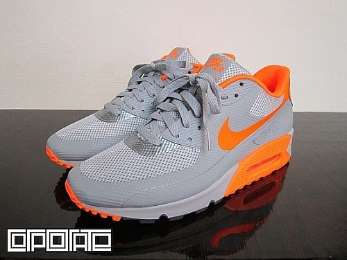 Nike Air Max 90 Hyperfuse SilverOrange | Nike air max, Air