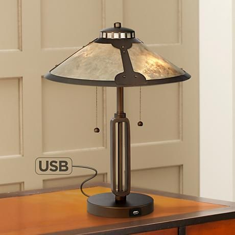 Traditional Meets Modern Convenience With This Metal Desk Lamp