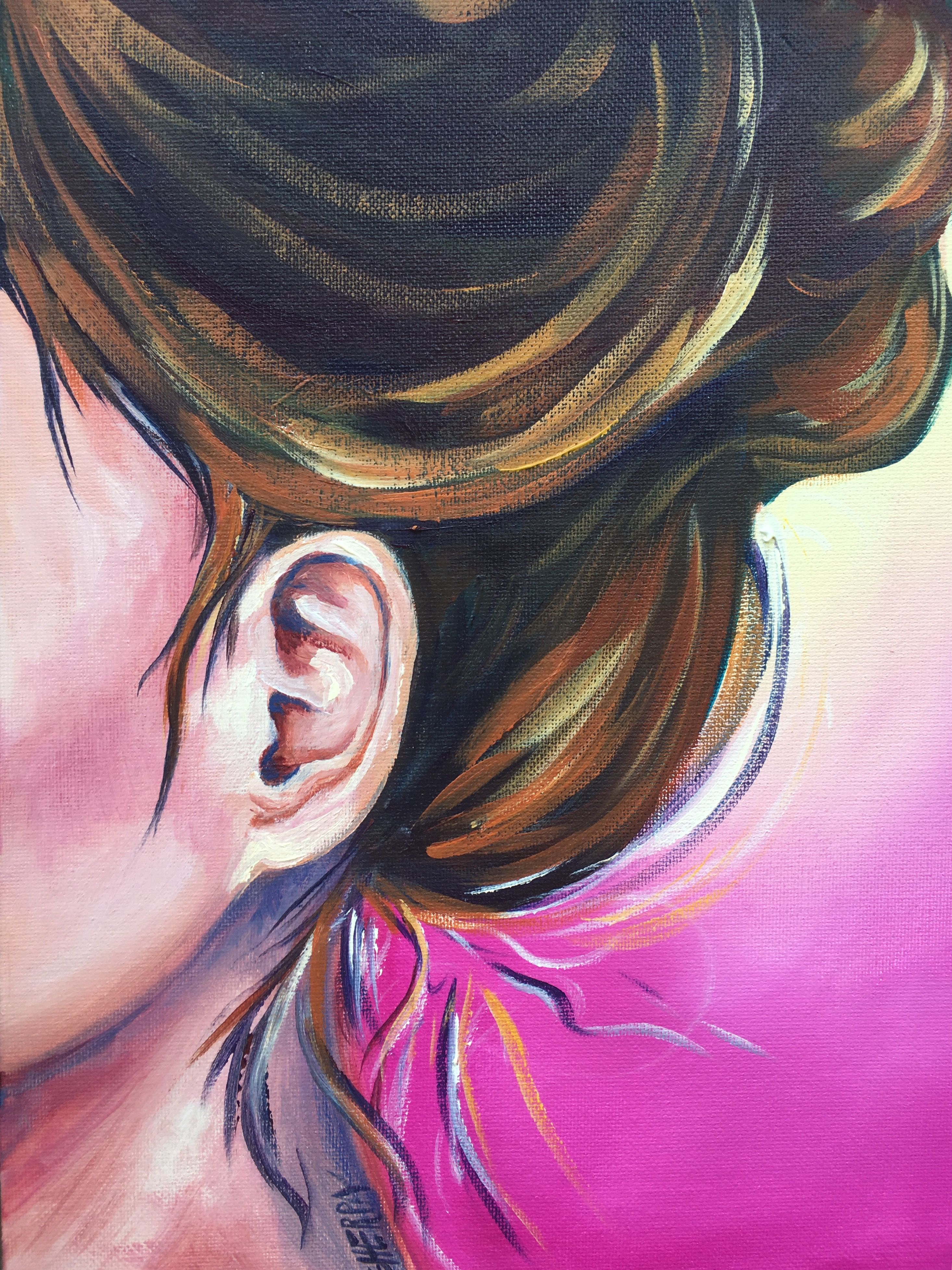 How To Paint Ears For Beginners In Acrylic Paint Big Art Quest About Face The Art Sherpa Free Art T Art Painting Acrylic Painting Tutorial Canvas Painting Diy