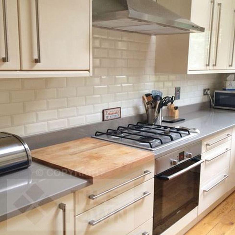 Metro Bone Brick Tiles Kitchen Kitchen Wall Tiles White