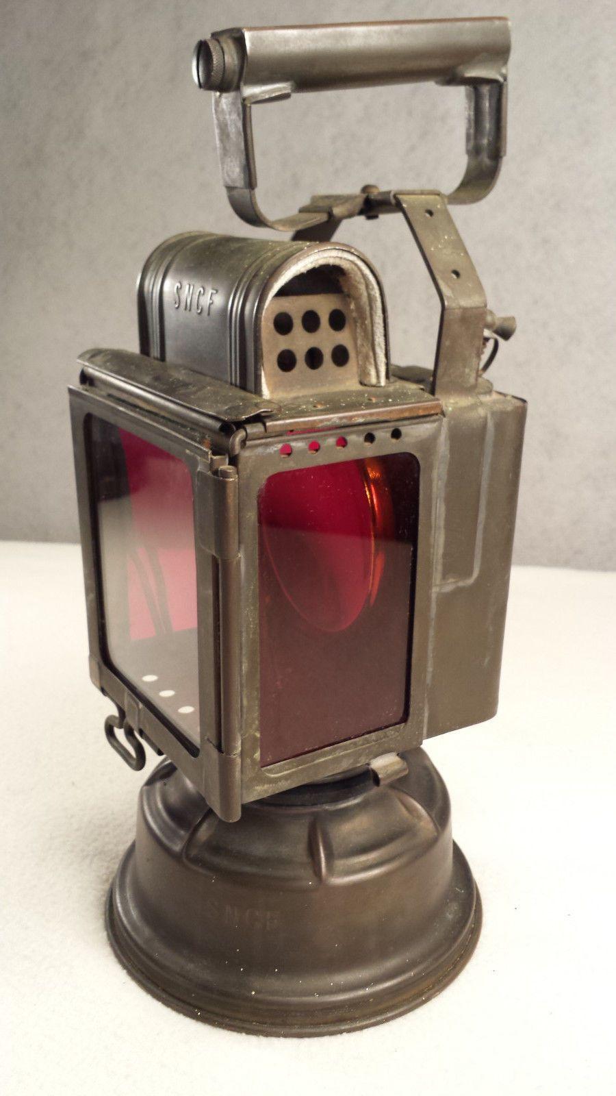 Vintage French SNCF Railroad Safety Lantern VGC Super Cool ...