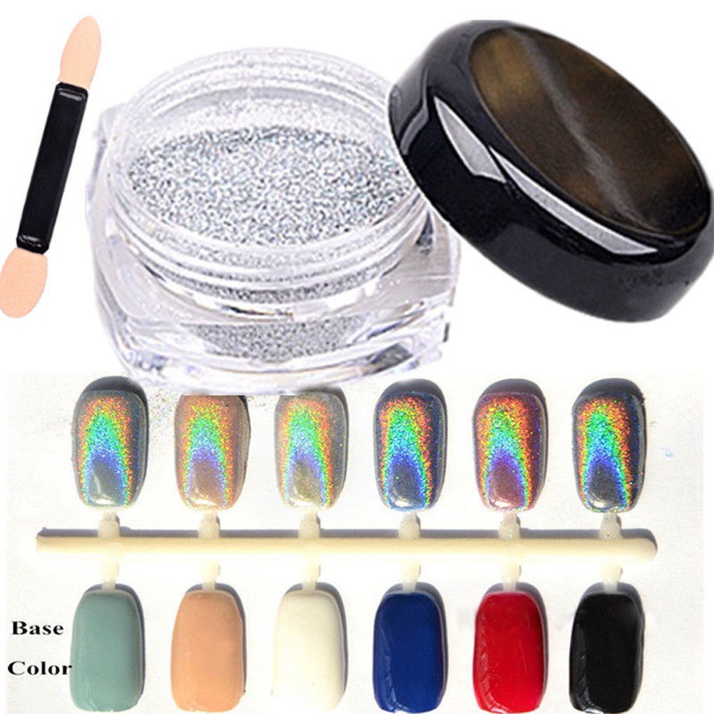 Extra Fine Holographic Chrome Nail Art Powder: Details About Nail Art Glitter Powder Dust Holographic