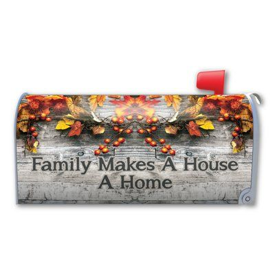 Magnet America Family Makes A House A Home Magnetic Mailbox Cover Products Magnetic Mailbox Covers Mailbox Covers Mailbox Accessories