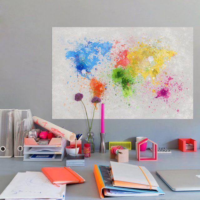 Fancy - Paint Splatter World Map