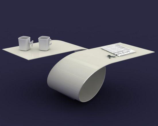 futuristic coffee table with amazing curves – loopbaita design