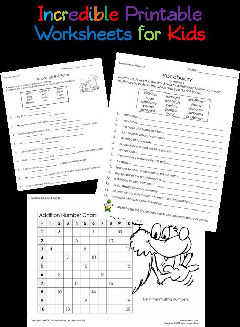 Printable Worksheets For Kids Utah Deal Diva Worksheets For Girls