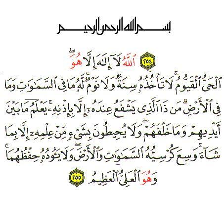 سورة البقرة آية الكرسي Chapter 2 Ayah Alkursy 255 Spoken Words Words Holy Quran