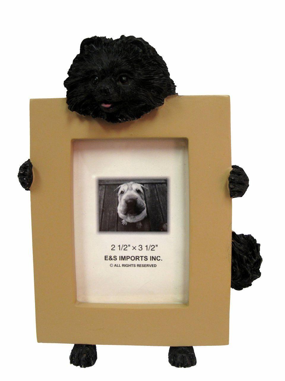 Pomeranian Black Dog Picture Frame Holder | Pomeranian | Pinterest