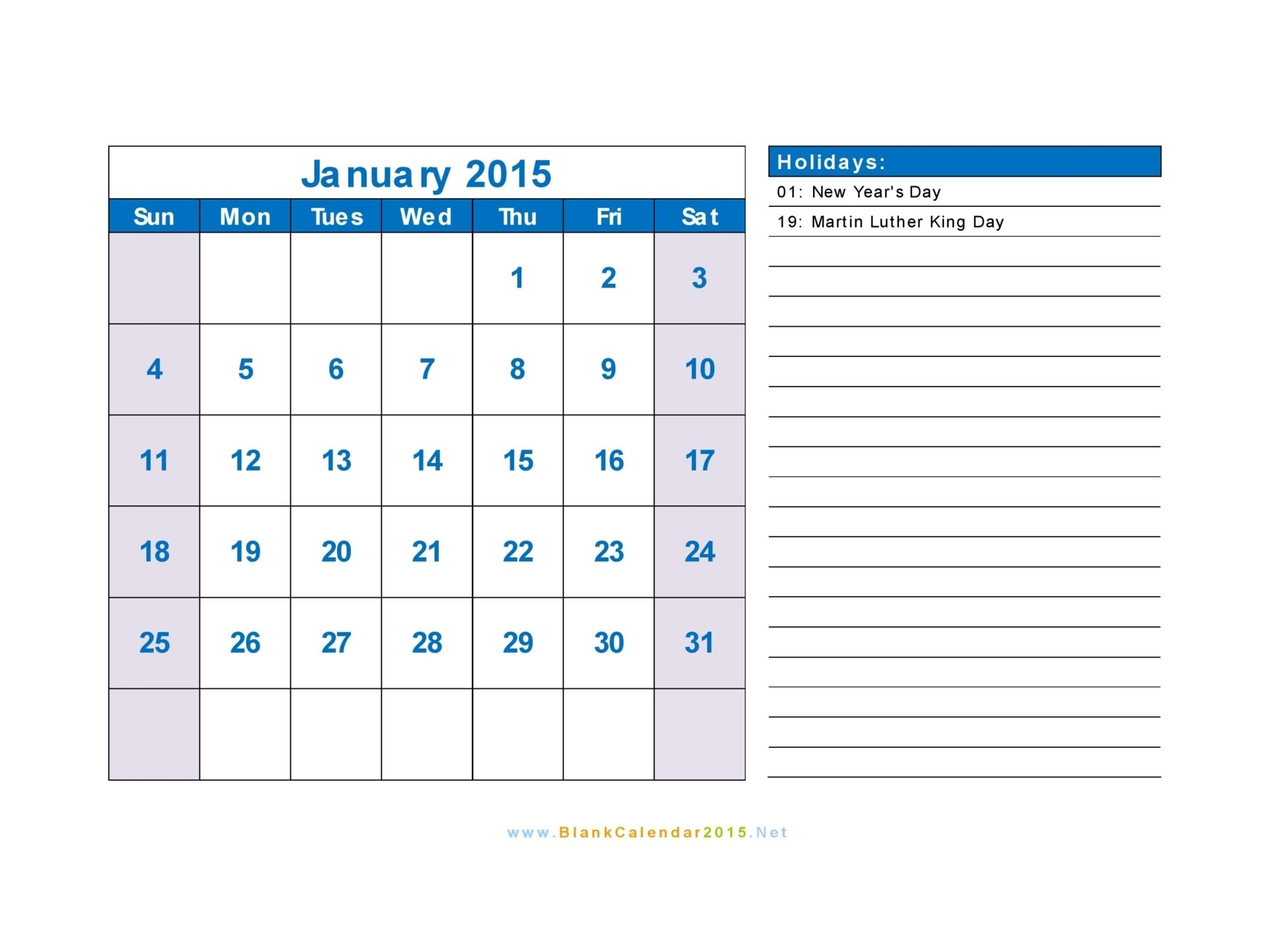 2015 Calendar With Us Holidays Landscape Interesting Things