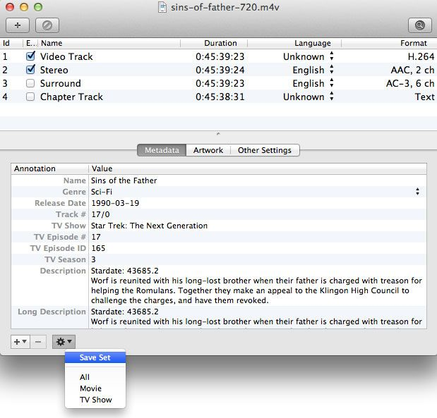 Subler Organize And Tag Your Itunes Movies And Tv Shows Video Metatags Mac Video Movies And Tv Shows Show Video