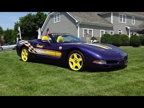 1998 Chevrolet Chevy Corvette Indy 500 Pace Car Amp Start Up On