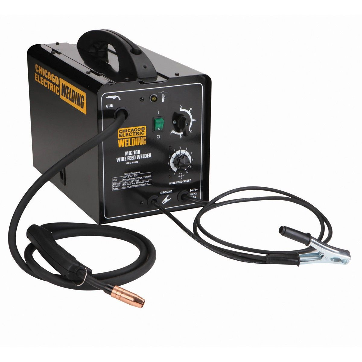 Harbor Freight - 180 Amp MIG/Flux Wire Feed Welder - under 300 bucks ...
