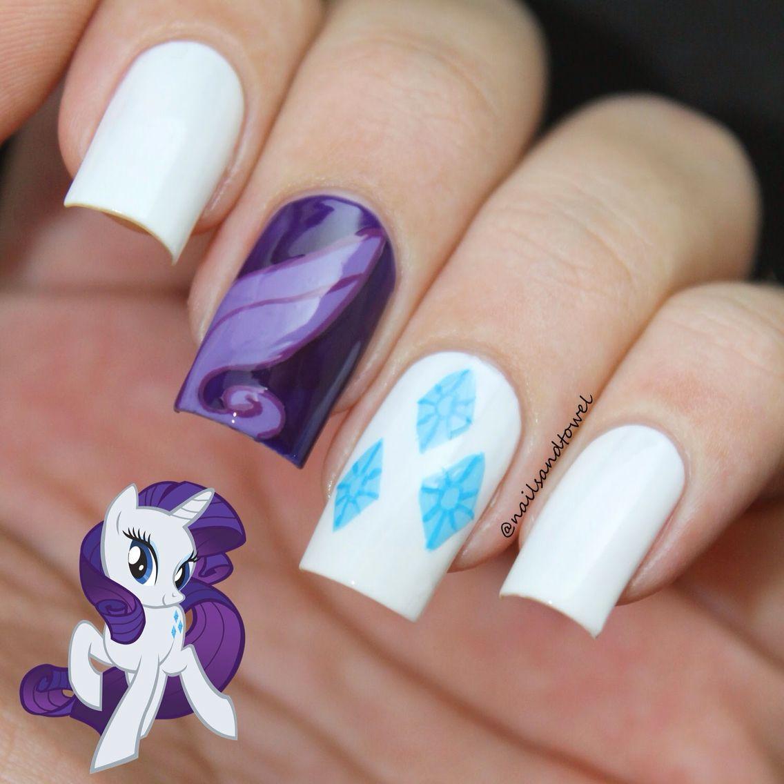 "Rarity nails. ""Gorgeous! Absolutely gorgeous!!"""