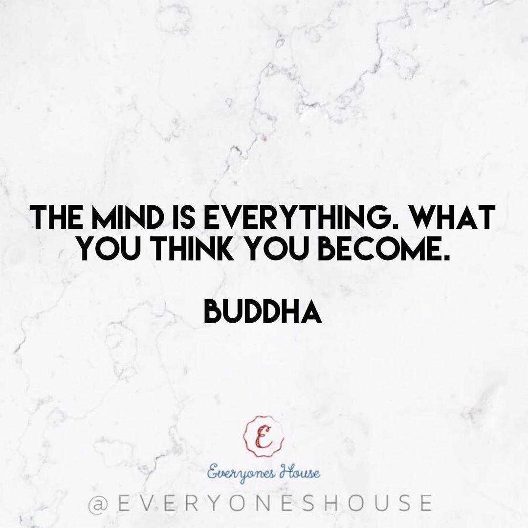 The mind is everything. What you think you become. • Buddha💘 .  #motivation #fitness #insp...