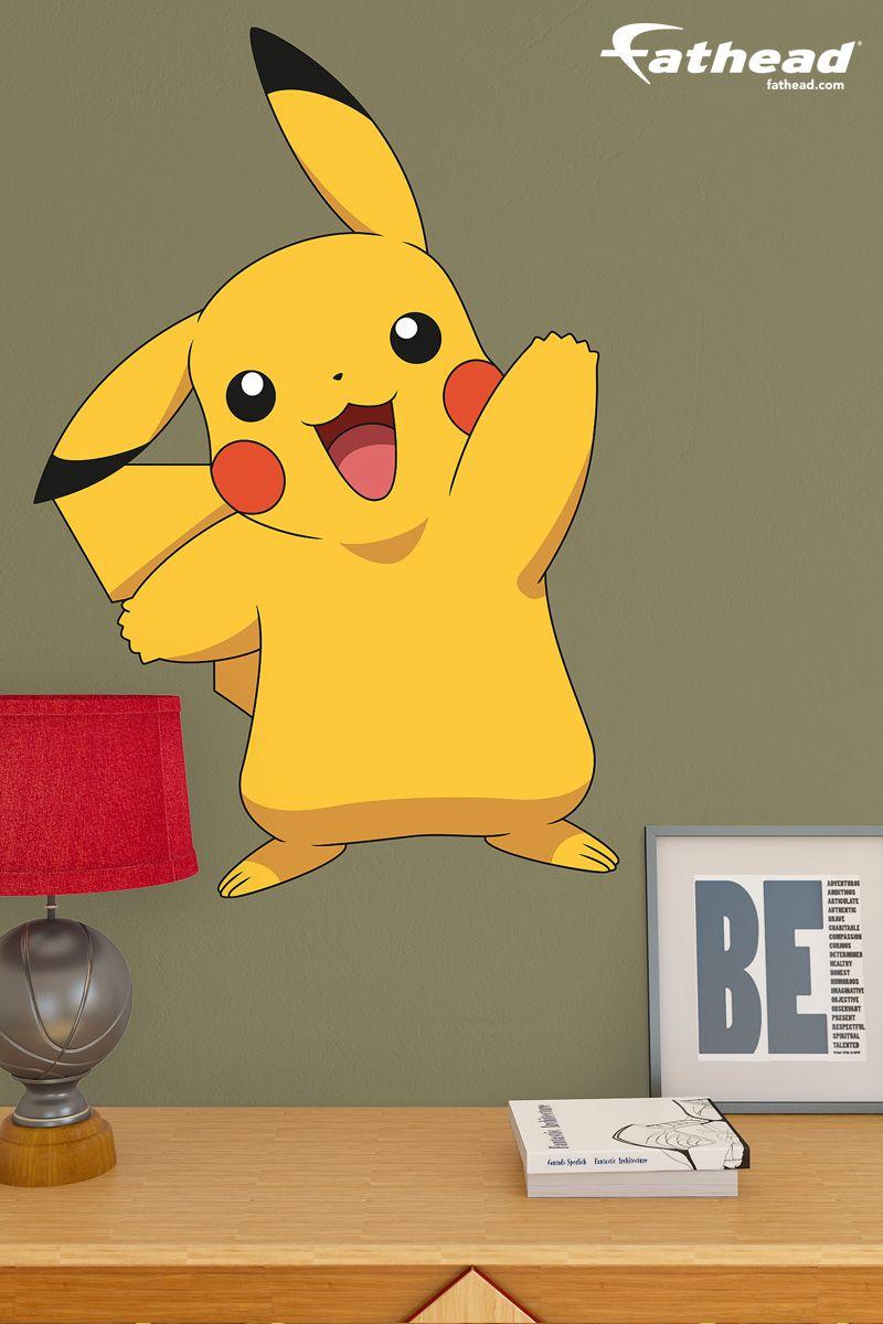 Pokemon Bedroom Decor Pikachu Fathead Jr Wall Decal Sticker Boy Girl Bedroom And