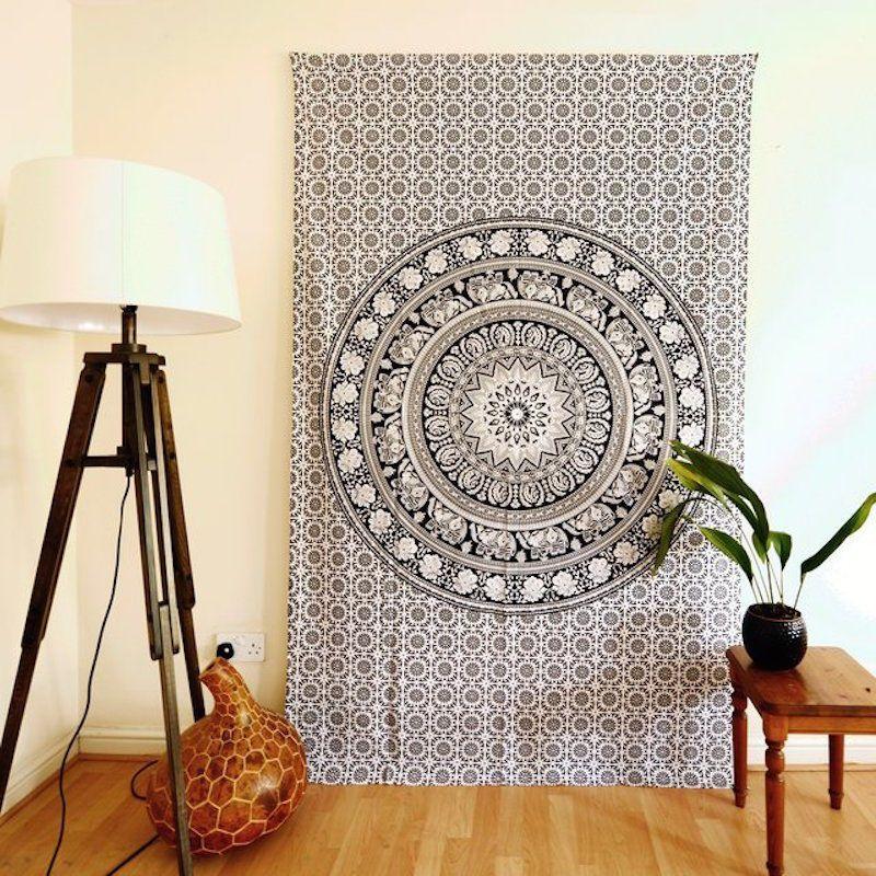 Ethno Möbel tagesdecke mandala elefanten wandbehang bettüberwurf dekotuch ethno
