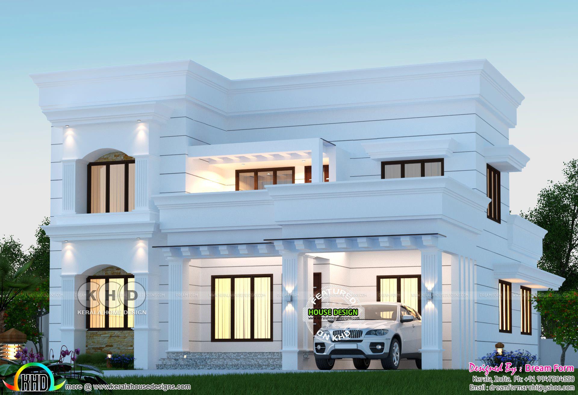 4 Bedrooms 2800 Square Feet Arabian Model Home Design In 2020 Bungalow House Design Kerala House Design Duplex House Design