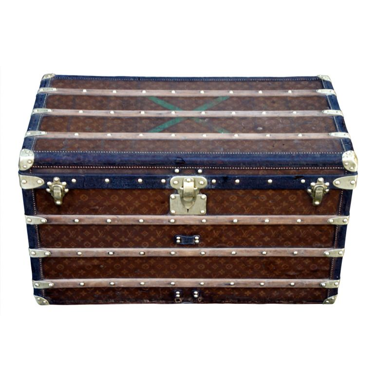 Lv Trunk Coffee Table: Antique Louis Vuitton Steamer Trunk Coffee Table, 1904