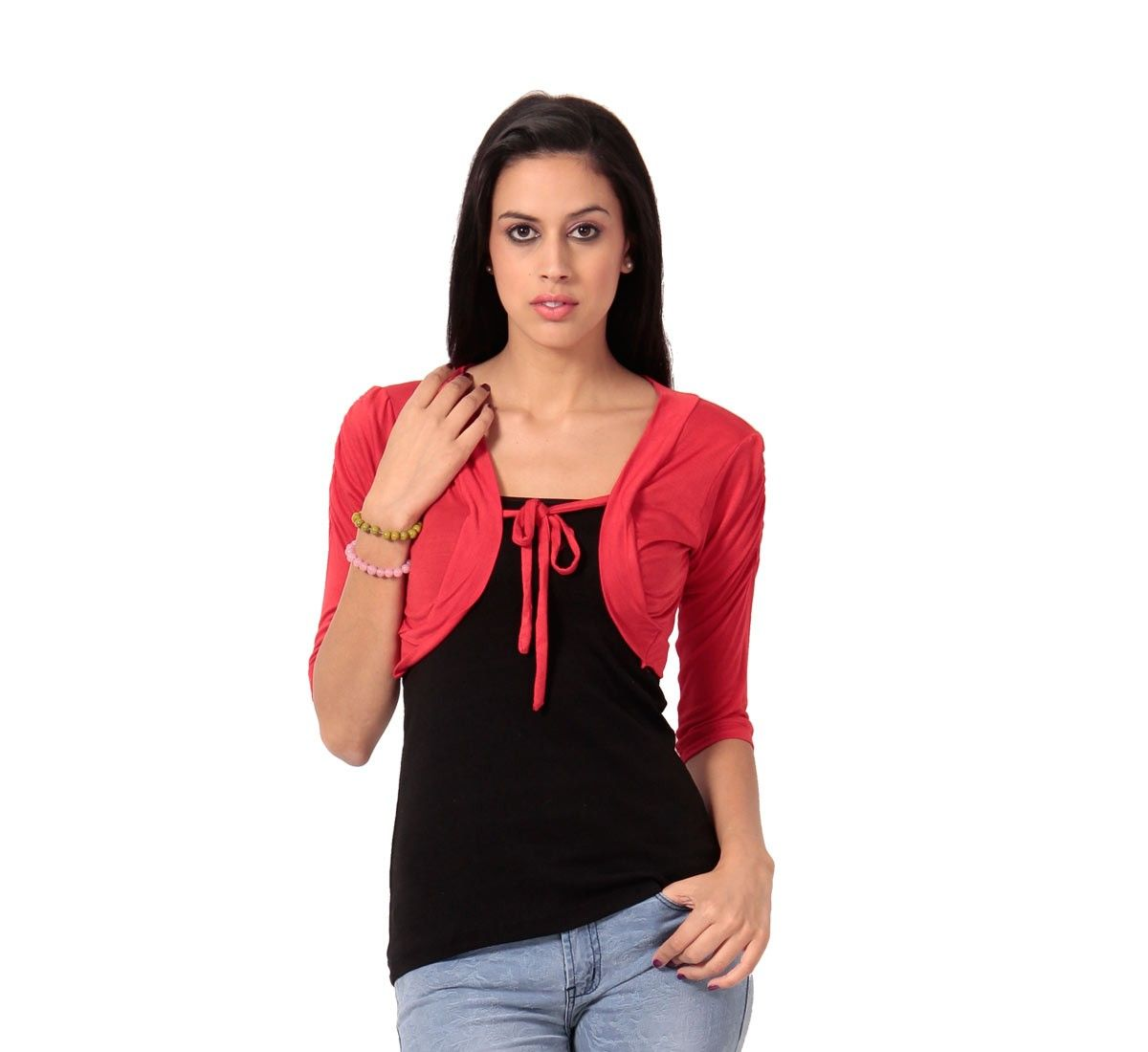 594387e4eb Buy Teemoods Stylish Red Short Shrug online for girls in India at  reasonable price