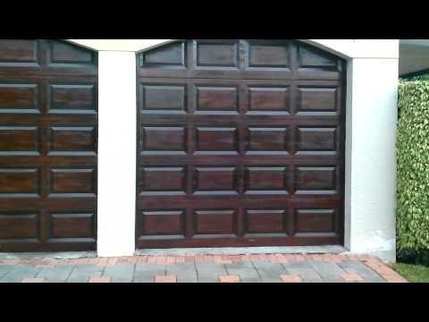 Garage Doors Rich Mahogany Gel Stain Wood Finish Youtube
