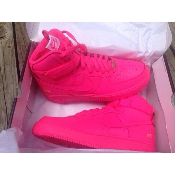 nike air force neon pink