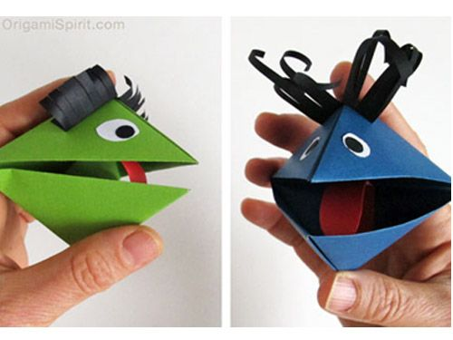 Turorial Títeres De Origami Descargables Gratis Para Imprimir Paper Toys Diseño Origami Tarjetas De Cumpleaño Como Hacer Titeres Títeres De Dedo Titeres