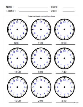 Clock Reading Time Worksheets Math For Kids Math Work Math worksheets time grade 2