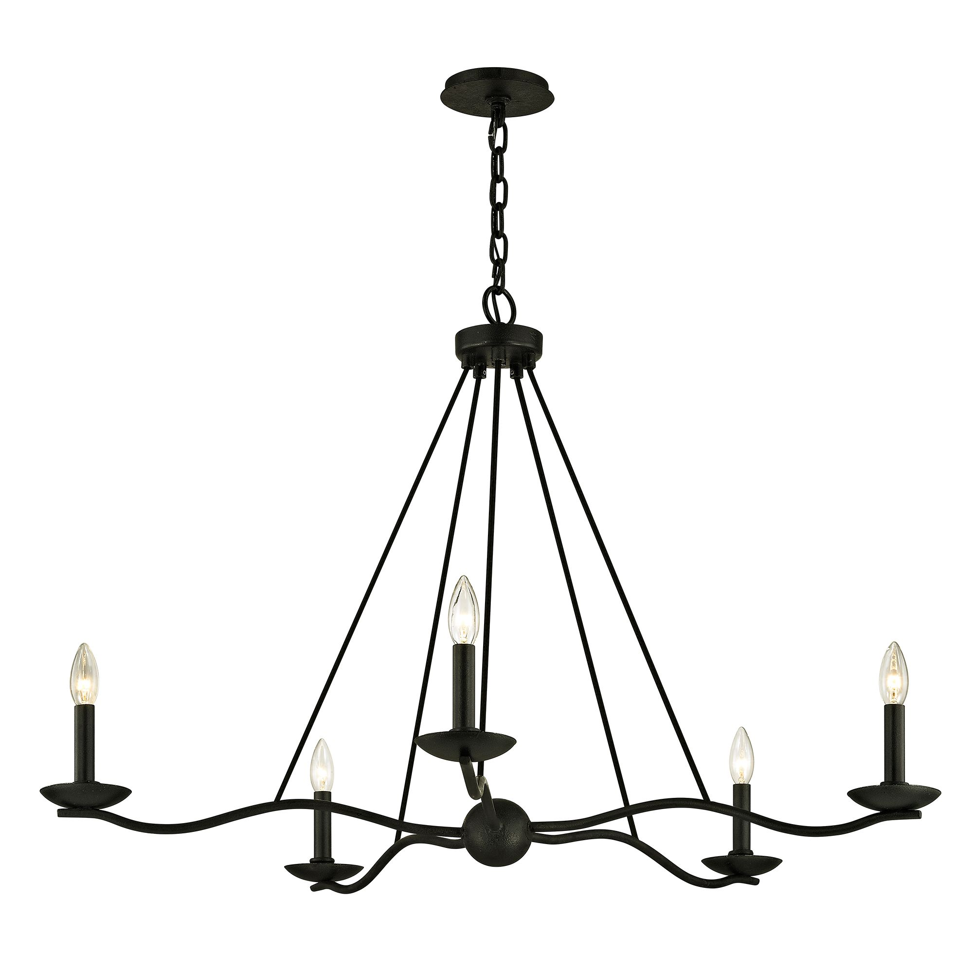 Small Simple Chandelier Sawyer Chandelier By Troy Lighting F6305 In 2019 Ballroom