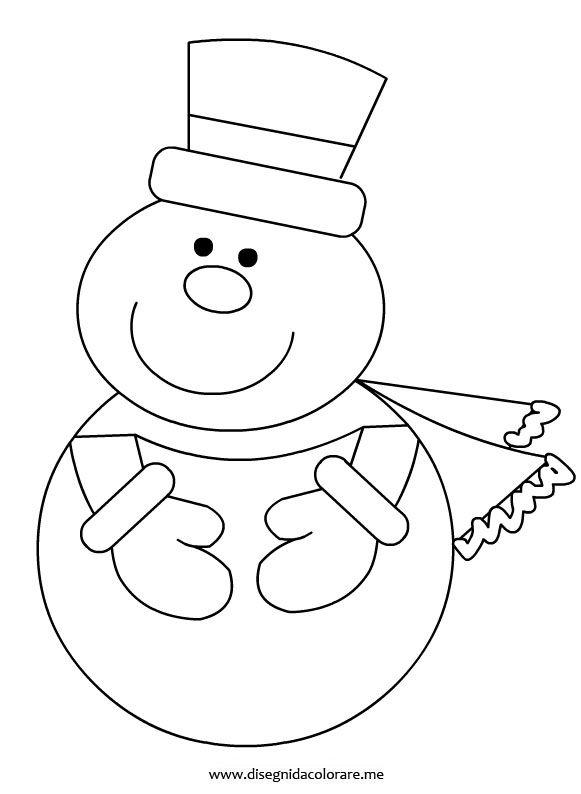 Snowman Coloring Page Pupazzo Di Neve Lavoretti Con Pupazzo Di