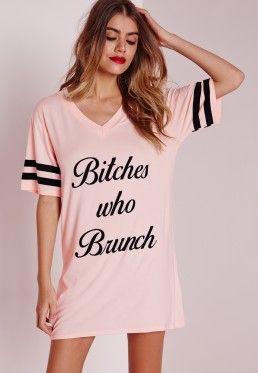 97c887c108 Bitches Who Brunch Nightshirt Pink